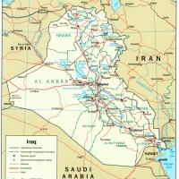 Asia- Iraq Political Map