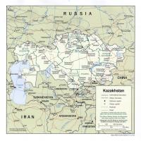 Printable Asia- Kazakhstan Political Map - Printable Maps - Misc Printables