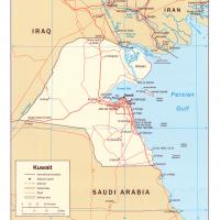 Asia- Kuwait Political Map