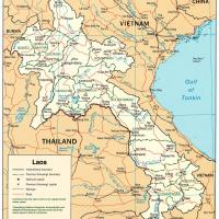 Asia- Laos Political Map