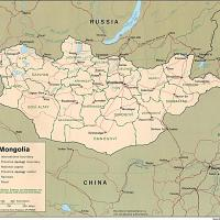 Asia- Mongolia Political Map