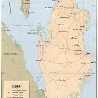 Printable Asia- Qatar Political Map - Printable Maps - Misc Printables