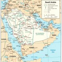Printable Asia- Saudi Arabia Political Map - Printable Maps - Misc Printables