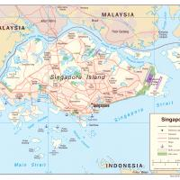 Asia- Singapore Political Map