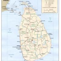Printable Asia- Sri Lanka Political Map - Printable Maps - Misc Printables