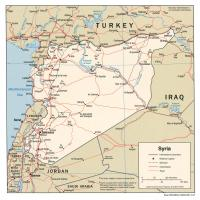 Printable Asia- Syria Political Map - Printable Maps - Misc Printables