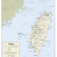 Asia- Taiwan Political Map