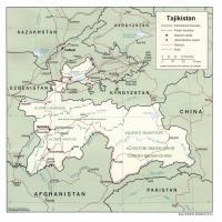 Asia- Tajikistan Political Map