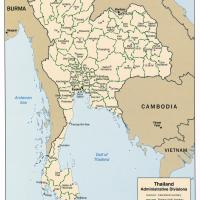 Asia- Thailand Political Map
