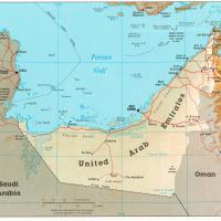 Asia- United Arab Emirates Political Map