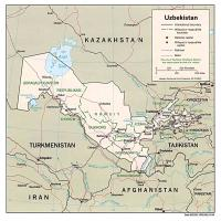 Printable Asia- Uzbekistan  Political Map - Printable Maps - Misc Printables