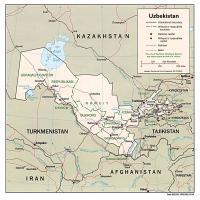Asia- Uzbekistan  Political Map