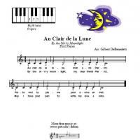 Printable Au Clair De La Lune For Piano - Printable Piano Music - Free Printable Music