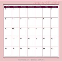 Printable August 2009 Planner Calendar - Printable Monthly Calendars - Free Printable Calendars