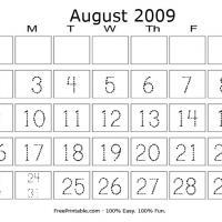 August 2009 Writing Calendar
