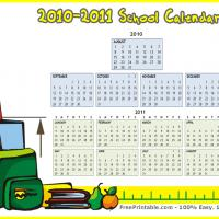 August 2010-2011 School Calendar