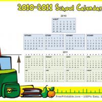 August 2010-2011 School Calendar