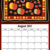 August 2011 Colorful Designed Calendar