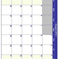 August 2013 Planner Calendar