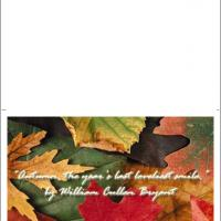 Printable Autumn Leaves - Printable Greeting Cards - Free Printable Cards