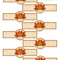 Printable Autumn Napkin Ring for Paper Napkin - Printable Party Supplies - Misc Printables