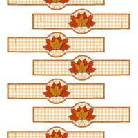 Printable Autumn Napkin Ring for Cloth Napkin - Printable Party Supplies - Misc Printables