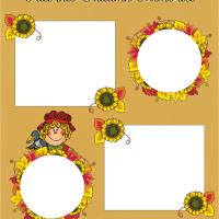 Printable Autumn Scrapbook Cover - Printable Scrapbook - Free Printable Crafts