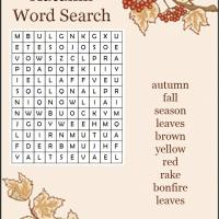 Printable Autumn Word Search - Printable Word Search - Free Printable Games