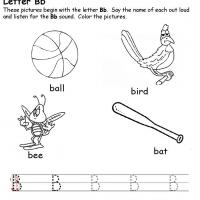 Printable B Beginning Consonant - Printable Preschool Worksheets - Free Printable Worksheets