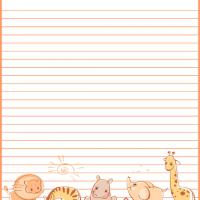 Printable Baby Animals Stationary - Printable Stationary - Free Printable Activities
