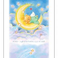 Printable Baby Bear On The Moon - Printable Baby Cards - Free Printable Cards