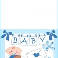 Printable Baby Blue Card - Printable Baby Cards - Free Printable Cards