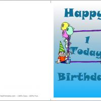 Printable Baby Boy's 1st Birthday Today - Printable Birthday Cards - Free Printable Cards