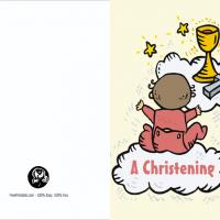 Baby Girl's Christening Invite