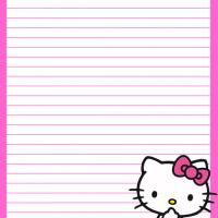 Printable Baby Hello Kitty in Pink - Printable Stationary - Free Printable Activities