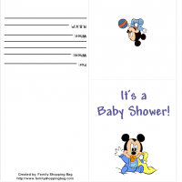 Printable Baby Mickey  Shower Invitation - Baby Shower and Christening Invitations Cards - Free Printable Invitations