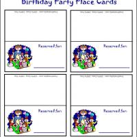Baby Party Place Cards
