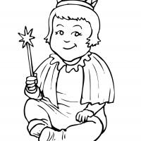 Printable Baby Princess - Printable Princess - Free Printable Coloring Pages