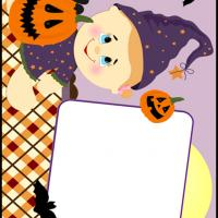 Printable Baby Scrapbook for Halloween - Printable Scrapbook - Free Printable Crafts