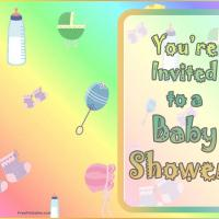 Printable Baby Shower Invitation - Baby Shower and Christening Invitations Cards - Free Printable Invitations