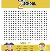 Back 2 School Word Search