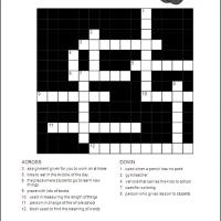 Printable Back To School Crossword - Printable Crosswords - Free Printable Games