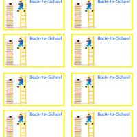 Back to School Ladder Labels