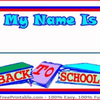 Printable Back To School Nametag - Printable Name Tags - Misc Printables