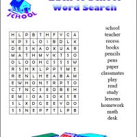 Printable Back To School Word Search - Printable Word Search - Free Printable Games