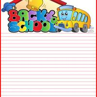 Printable Back to School Zone Stationary - Printable Stationary - Free Printable Activities