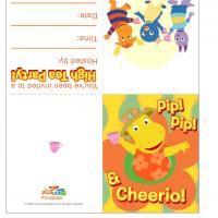 Backyardigans High-Tea Party Invitations