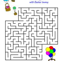 Printable Balloon Baskets Maze - Printable Mazes - Free Printable Games