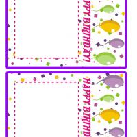 Balloons Birthday Invitation Cards