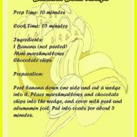 Printable Banana Boat Recipe - Printable Recipes - Free Printable Activities